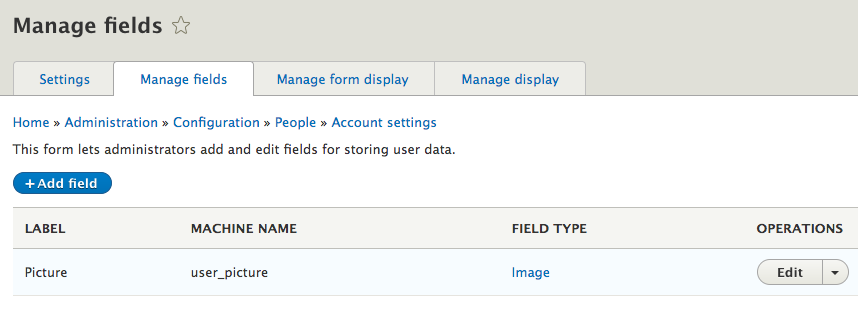 How to Build User Profiles With Fields in Drupal 8